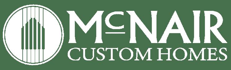 McNair Custom Homes Logo - All White